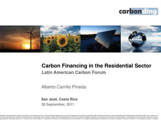 Carbon Financing in the Residential Sector