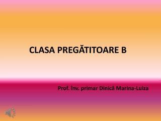 CLASA  PREG?TITOARE B