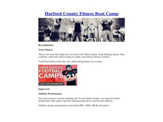 Harford County Fitness Boot Camp