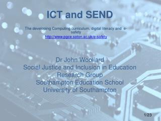 The developing Computing curriculum, digital literacy and  e-safety