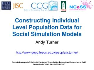 Constructing Individual Level Population Data for Social Simulation Models