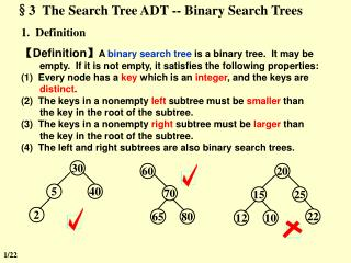 §3  The Search Tree ADT -- Binary Search Trees