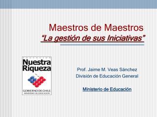 """Maestros de Maestros """"La gestión de sus Iniciativas"""""""