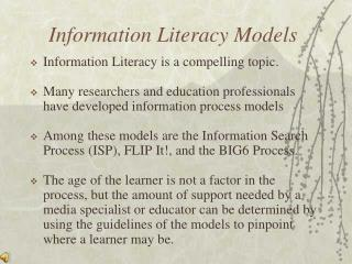 Information Literacy Models