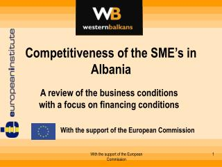 Competitiveness of the SME's in Albania