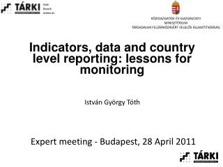 Indicators, data and country level reporting: lessons for monitoring