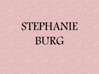 From rigid and obsessive to trusting yourself: Stephanie Bur