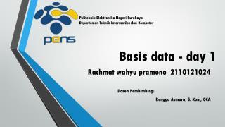 Basis data - day 1