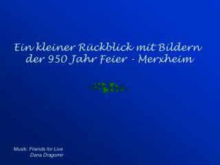 Ein kleiner Rückblick mit Bildern  der 950 Jahr Feier - Merxheim