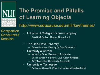 The Promise and Pitfalls of Learning Objects