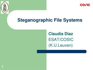 Steganographic File Systems