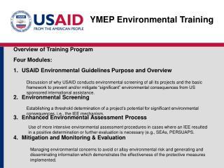 YMEP Environmental Training