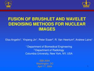FUSION OF BRUSHLET AND WAVELET DENOISING METHODS FOR NUCLEAR IMAGES