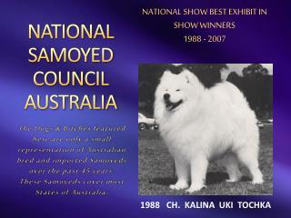 NATIONAL SAMOYED COUNCIL AUSTRALIA