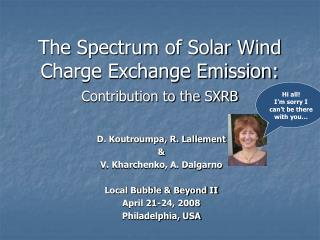 The Spectrum of Solar Wind Charge Exchange Emission: Contribution to the SXRB