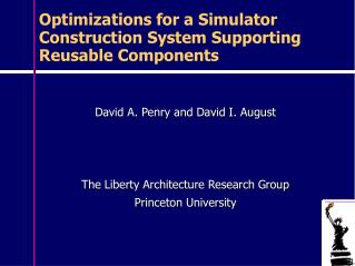 Optimizations for a Simulator Construction System Supporting Reusable Components