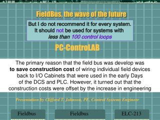 FieldBus, the wave of the future