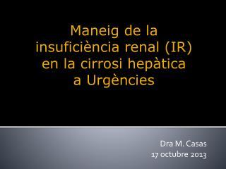 Dra M. Casas 17 octubre 2013