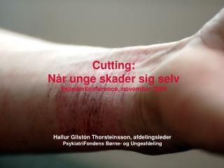 Cutting:  Når unge skader sig selv Vejlederkonference, november 2009