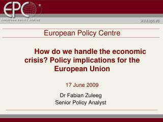 Dr Fabian Zuleeg Senior Policy Analyst