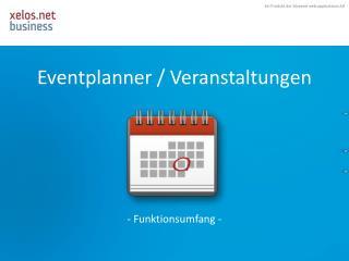 Eventplanner  / Veranstaltungen