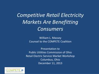 Competitive Retail Electricity Markets Are Benefitting Consumers
