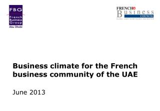 Business climate for the French business community of the UAE