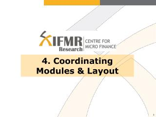 4. Coordinating Modules & Layout