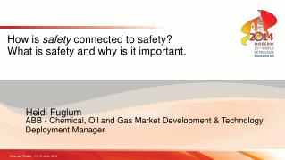 How is  safety  connected to safety? What is safety and why is it important.