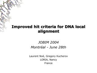 Improved hit criteria for DNA local alignment
