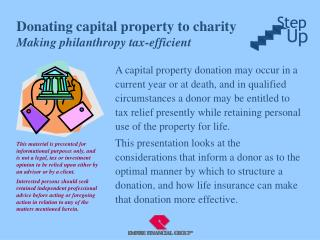 Donating capital property to charity Making philanthropy tax-efficient