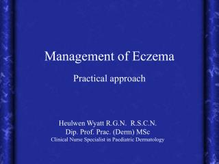 Management of Eczema