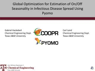 Global Optimization for Estimation of On/Off Seasonality in Infectious Disease Spread Using Pyomo