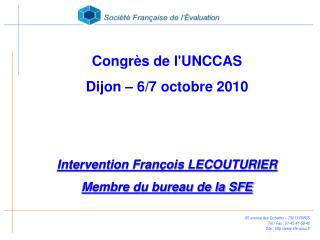 65 avenue des Gobelins – 75013 PARIS Tel / Fax : 01-45-41-58-40 Site : sfe-asso.fr