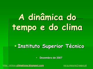 A dinâmica do tempo e do clima