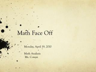 Math Face Off
