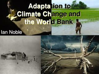 Adapta tion to  Climate Ch ange and  the Worl d Bank