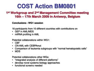 COST Action BM0801