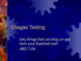 Chagas Testing