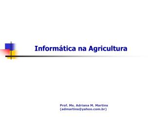 Informática na Agricultura