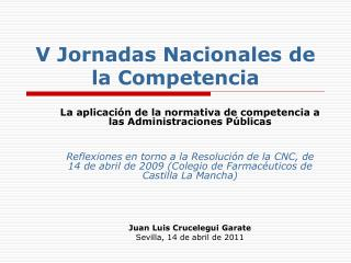 V Jornadas Nacionales de la Competencia
