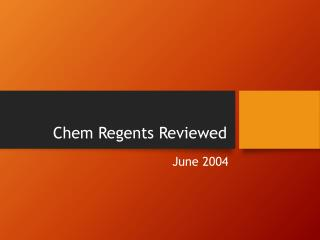 Chem Regents Reviewed