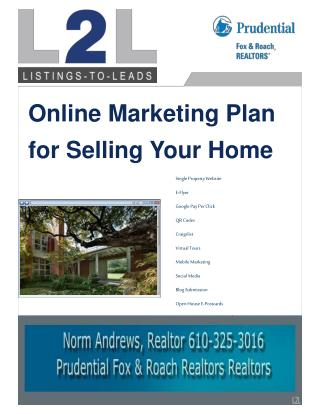 Online Marketing Plan for Selling Your Home
