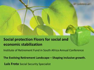 Social protection Floors for social and economic stabilization
