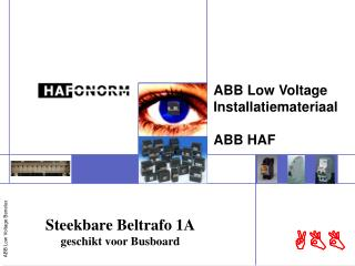 ABB Low Voltage Installatiemateriaal ABB HAF