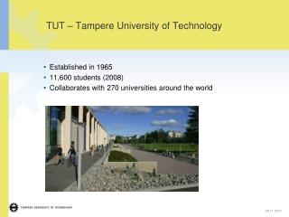 TUT – Tampere University of Technology