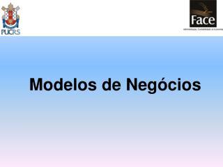 Modelos de Neg�cios