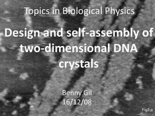 Topics in Biological Physics