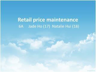 Retail price maintenance