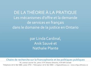 55, avenue Laurier Est, pièce 3174 Ottawa (Ontario), K1N 6N5 Canada